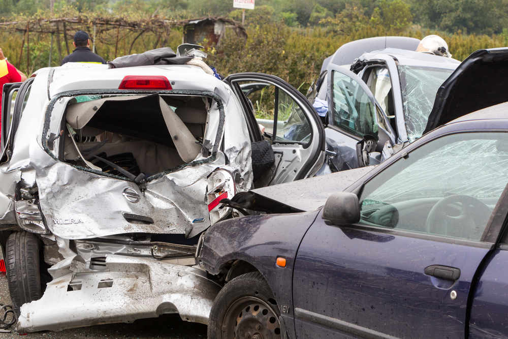multiple vehicle car accident Kansas Missouri lawyer