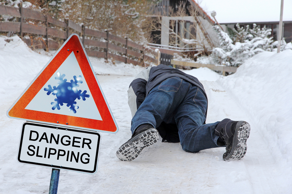 snow winter weather slip and fall kansas city lawyer
