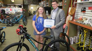 Joe Barberi and Elizebeth Tarrant Barberi Law Firm Bikes for Kids