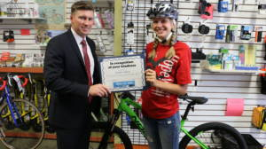 Dave Barberi and Faith Schuch Barberi Law Firm Bikes for Kids