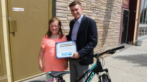 Dave Barberi and Genavieve Huntoon Barberi Law Firm Bikes for Kids