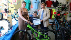 Joe Barberi, Allison Quast-Lents, and Peyton Duncan 2017 Bikes for Kids