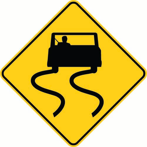 Wet Roads Require Caution
