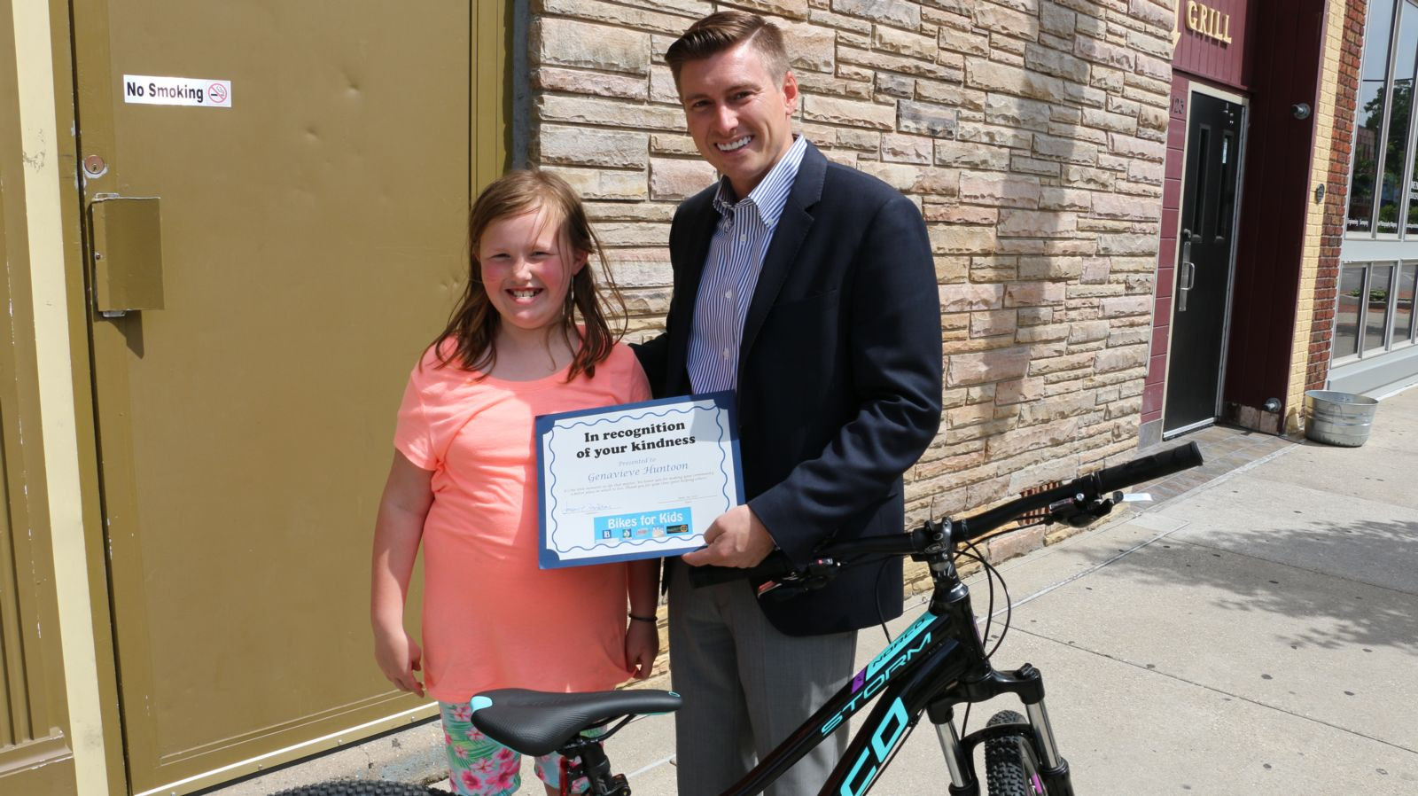Genavieve Huntoon and David Barberi - Bikes for Kids winner 2017