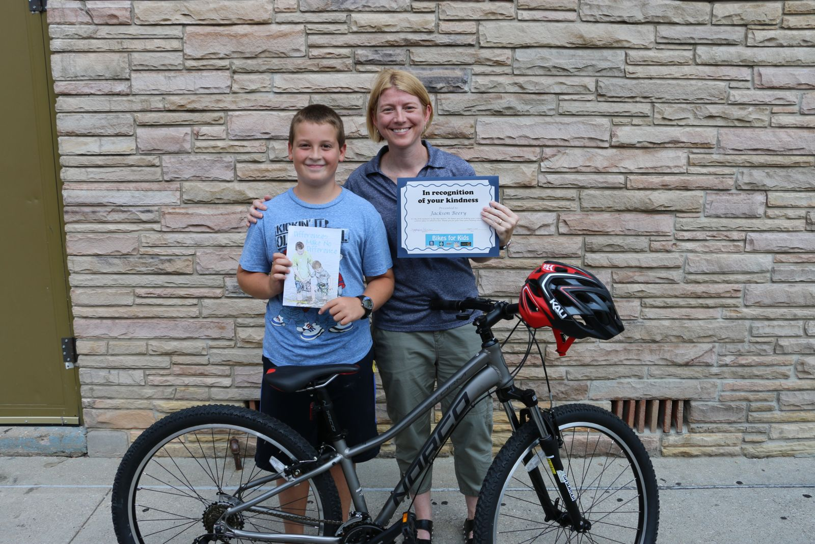 Jackson Beery and Renae Gould - Bikes for Kids winner 2016