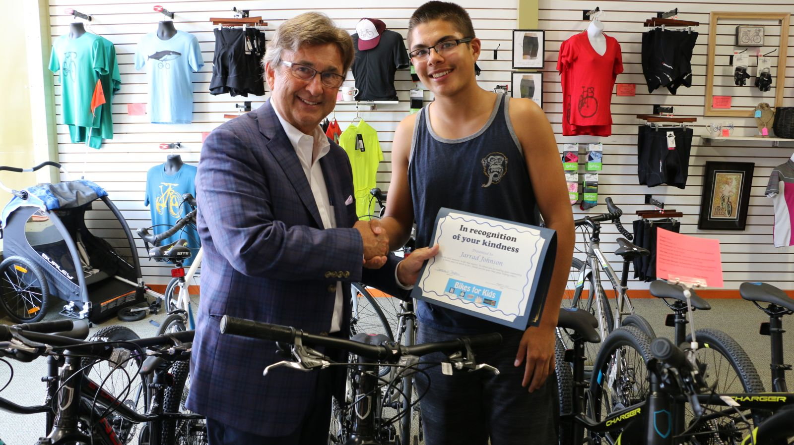 Joe Barberi and Jarrad Johnson - Bikes for Kids 2107