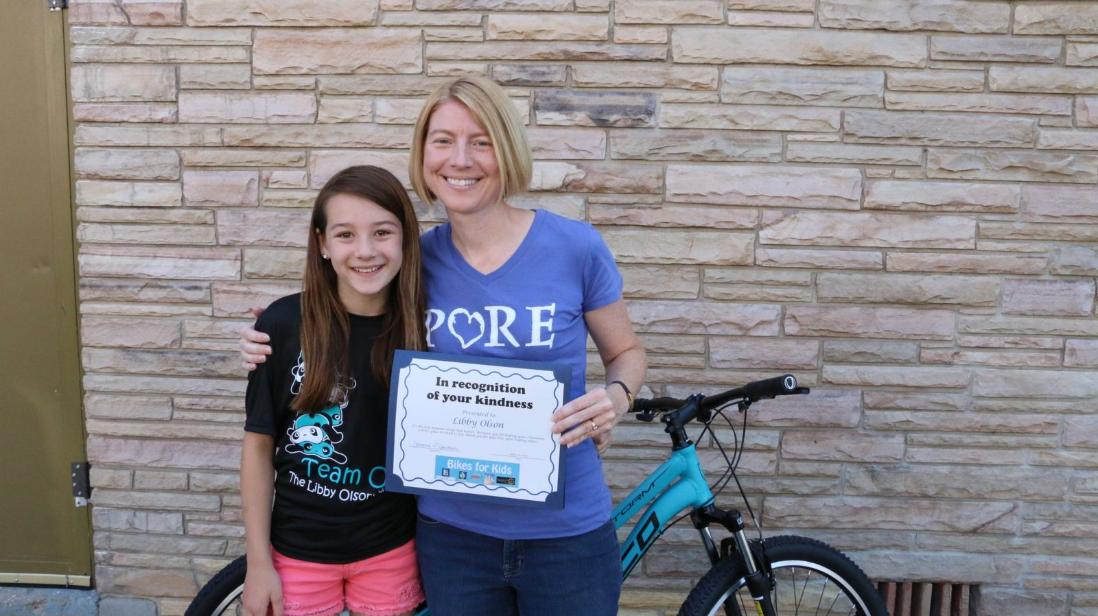 Libby Olson and Renae Gould - Bikes for Kids 2016