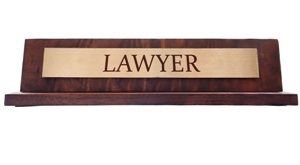 Desk nameplate for Lawyer