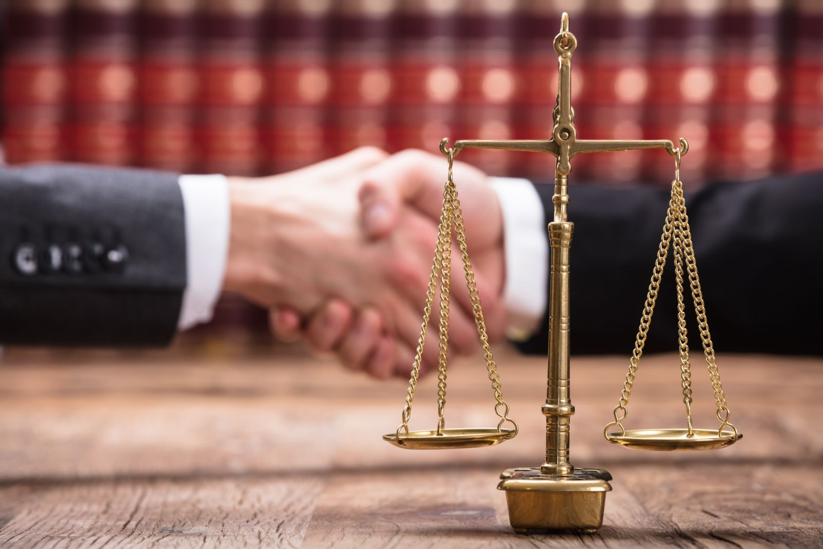 criminal appellate attorney shaking hands