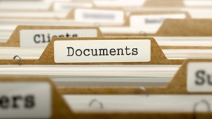 file with folder labeled documents