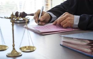 judge signing legal motion