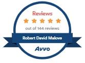 five star reviewed avvo badge