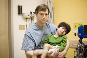 Injured little boy