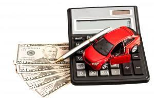 car, calculator, money, and pen