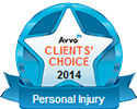 Avvo Clients' Choice - Atlanta Personal Injury Attorney Award Van Sant Law
