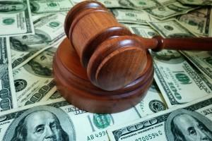 Gavel on a Pile of Money