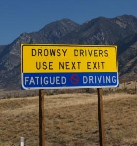 drowsy driver sign