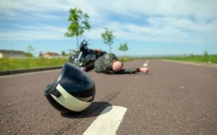 motorcycle road rash accident claim