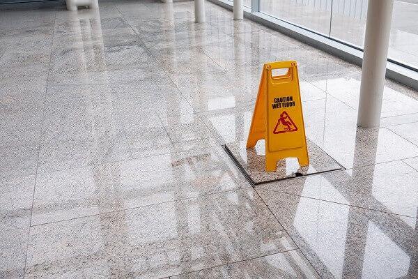 slip and fall sign Van Sant Law