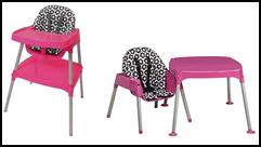 recalled Evenflo high chair