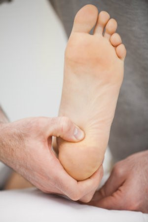 Heel being examined