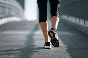 Getting exercise and protecting your feet with shoes helps you care for diabetic feet.