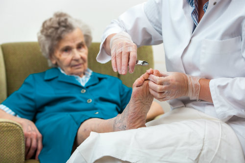 Taking care of senior feet