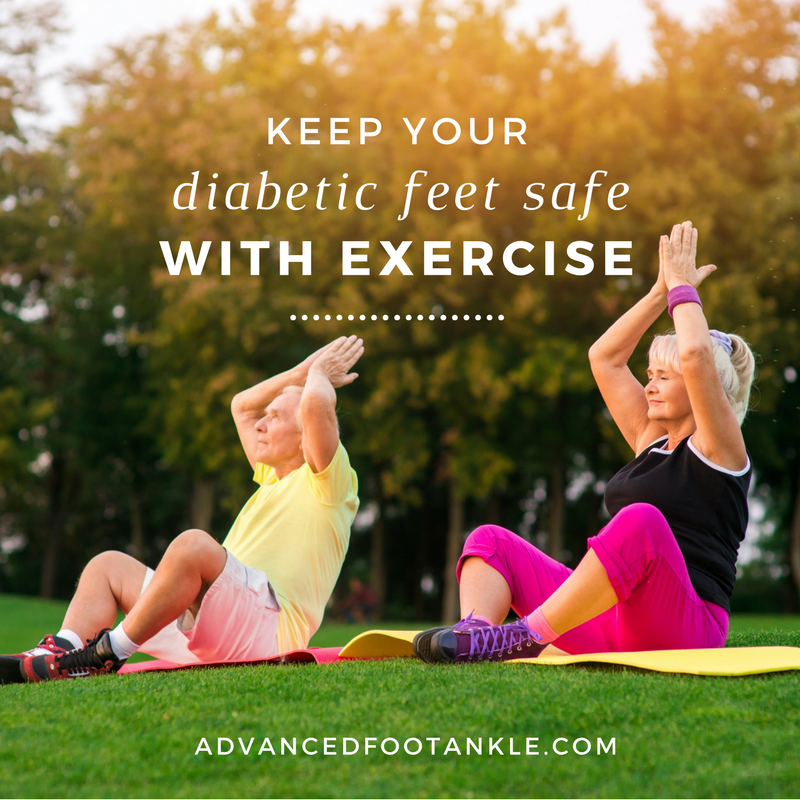 Exercising with diabetes.