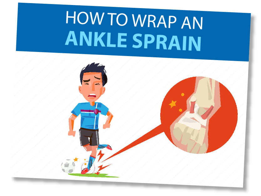 How to wrap an ankle sprain