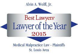 Alvin Wolff: featured in Best Lawyers® as 2015 medical malpractice lawyer of the year in St. Louis
