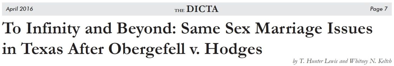 Dallas Association of Young Lawyers Dicta Article
