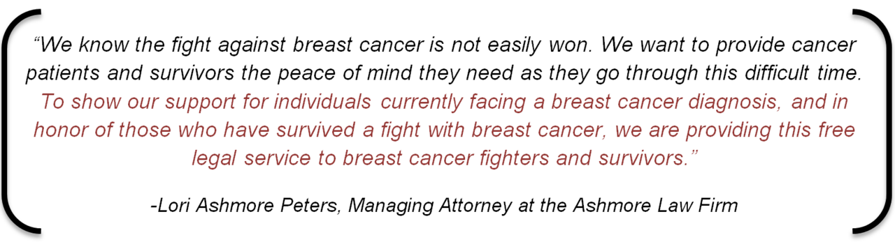 Quote Breast Cancer Awareness Estate Planning Lori Ashmore Peters