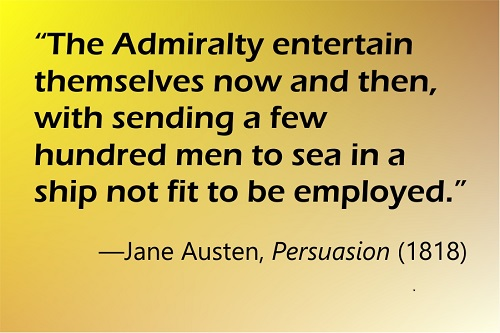 The Admiralty entertain themselves now and then, with sending a few hundred men to sea in a ship not fit to be employed.