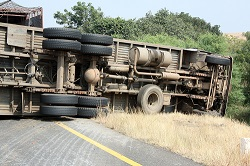 An out-of-control truck can damage multiple vehicles sharing the road