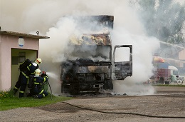 Truck collisions can result in serious burn injuries