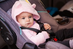 Use the right car seat for your child, and install the device properly
