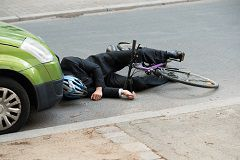 Inattentive car drivers can overlook bicycle riders, and a tragic accident is the result