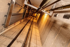 A look down the elevator shaft