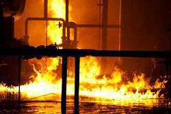 The risk of fire in industrial plants can be extreme