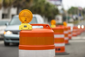 Road work zones place construction workers at great risk from traffic