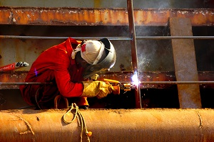 Welding is a hazardous occupation for maritime workers