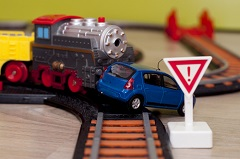 In car-versus-train collisions, the train wins every time