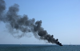Shipboard fires can cause devastating burn injuries