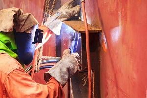 Working in close quarters in a shipyard or on a vessel may make injuries more likely