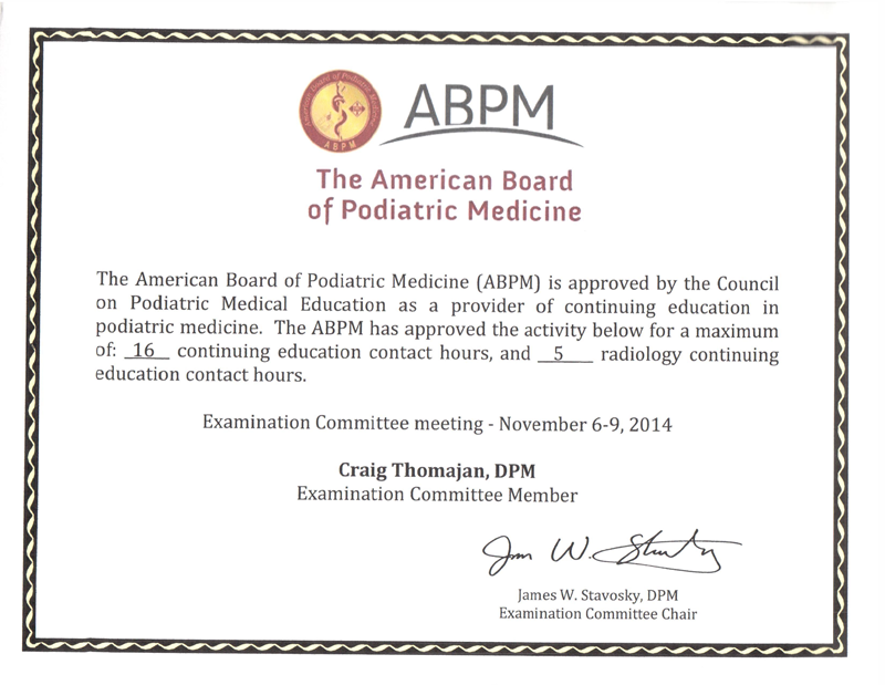 ABPM Examination Committee Member