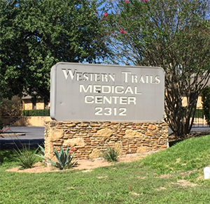 Western Trails Medical Center Sign