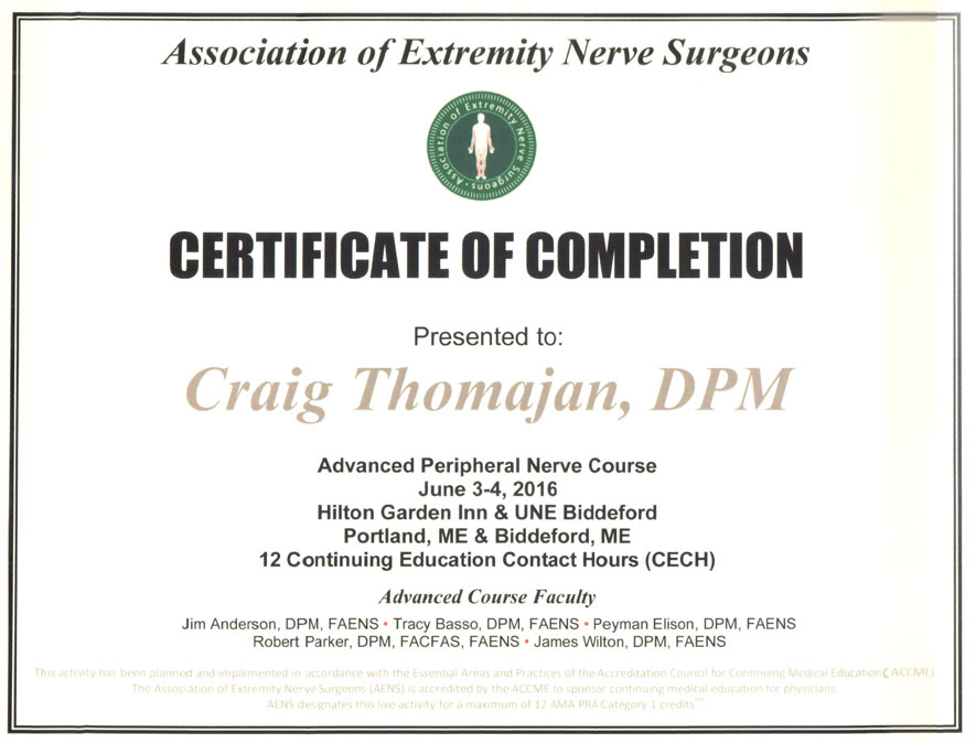 Continuing Education Certificate