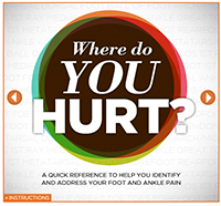 Where does my foot hurt?