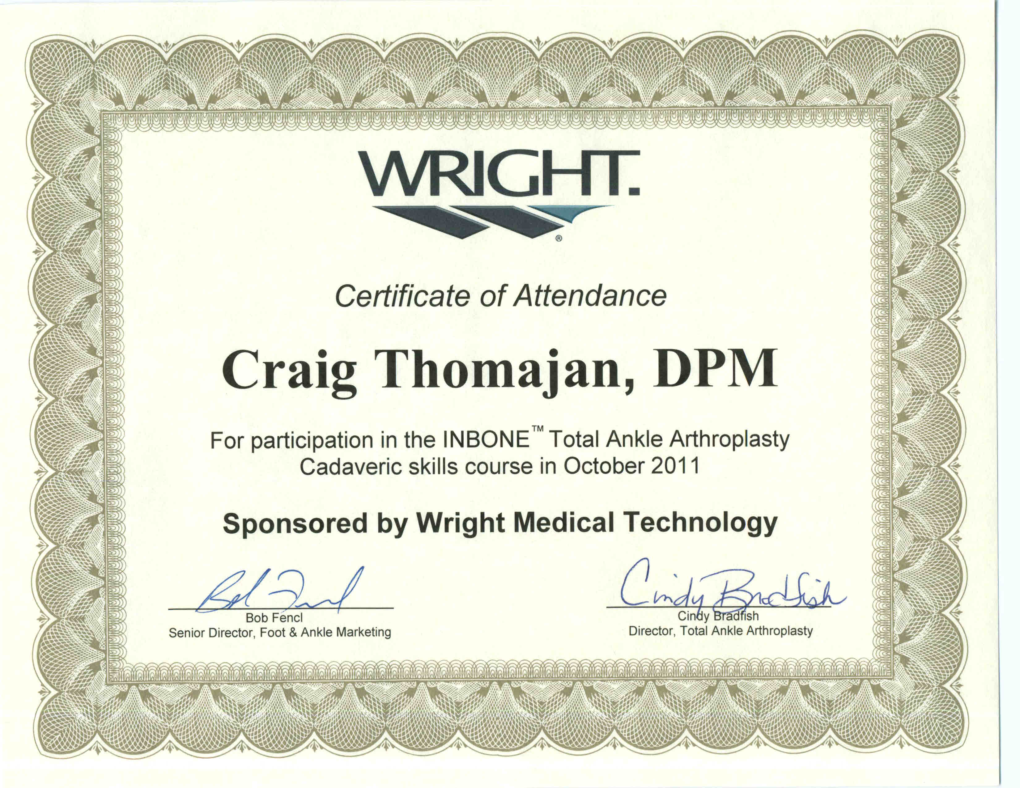 Wright Medical In-Bone Total Ankle Arthoplasty