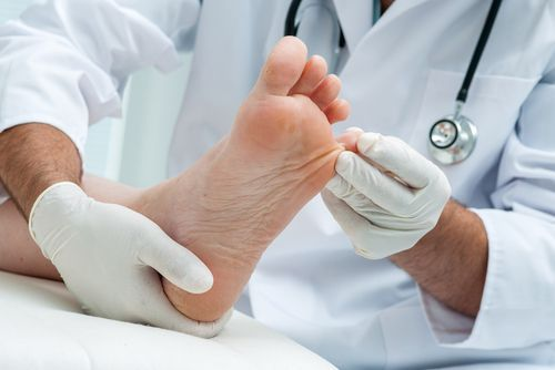 Have your podiatrist check that the lump on your foot is a noncancerous cyst.